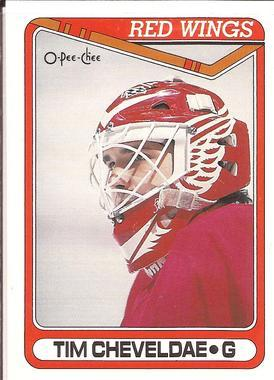 1990-91 O-Pee-Chee Main Set Tim Cheveldae RC #430